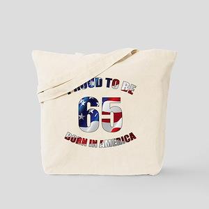 American 65th Birthday Tote Bag