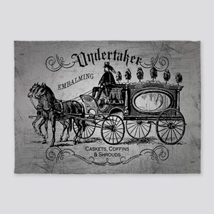 Undertaker Vintage Style 5'x7'Area Rug