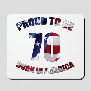 American 70th Birthday Mousepad