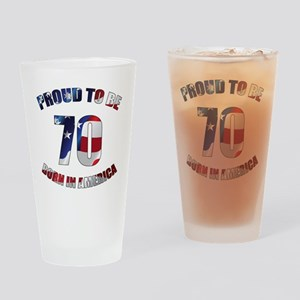 American 70th Birthday Drinking Glass