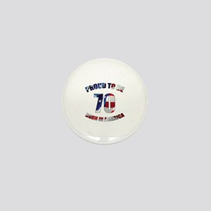 American 70th Birthday Mini Button