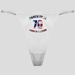American 70th Birthday Classic Thong