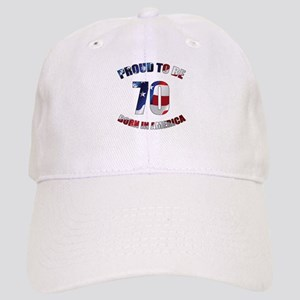 American 70th Birthday Cap