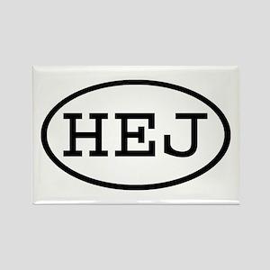 HEJ Oval Rectangle Magnet