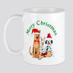 Merry Christmas Dogs Mugs