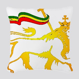 KING OF KINGZ LION Woven Throw Pillow