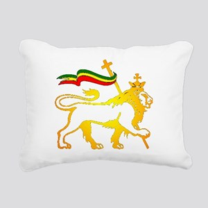 KING OF KINGZ LION Rectangular Canvas Pillow