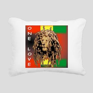 ONE LOVE LION Rectangular Canvas Pillow