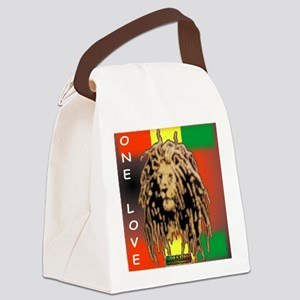 ONE LOVE LION Canvas Lunch Bag