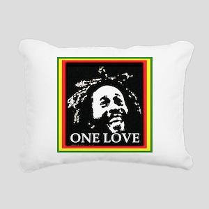 ONE LOVE II. Rectangular Canvas Pillow