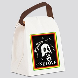 ONE LOVE II. Canvas Lunch Bag