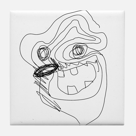 Dare to Doodle [BeardFace] Tile Coaster