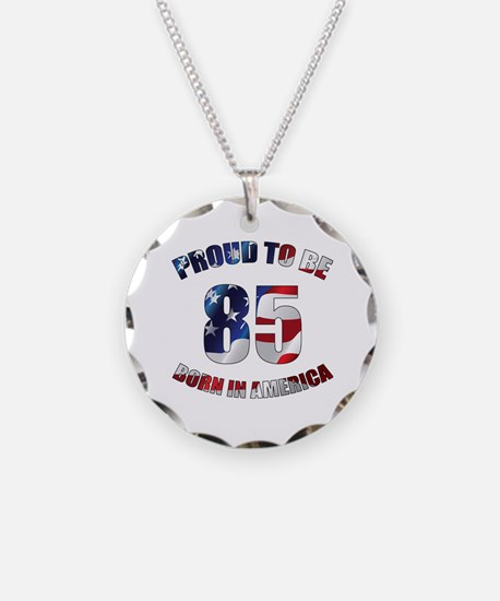 American 85th Birthday Necklace