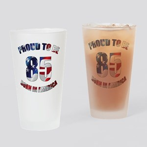American 85th Birthday Drinking Glass
