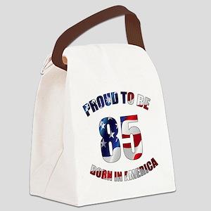 American 85th Birthday Canvas Lunch Bag