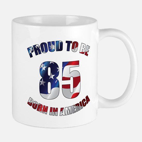 American 85th Birthday Mugs