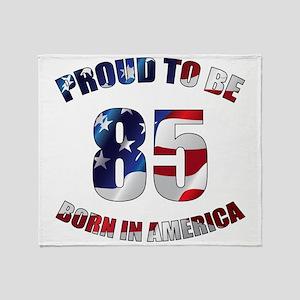 American 85th Birthday Throw Blanket