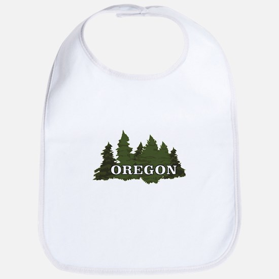 oregon trees logo Baby Bib