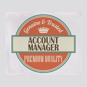 Account Manager Throw Blanket