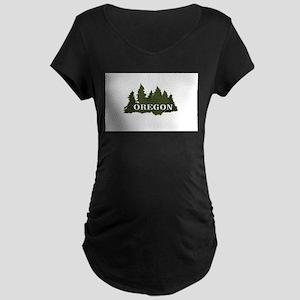 oregon trees logo Maternity T-Shirt