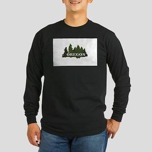 oregon trees logo Long Sleeve T-Shirt