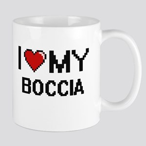 I Love My Boccia Digital Retro Design Mugs