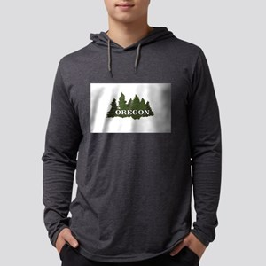 oregon trees logo Long Sleeve T-Shirt