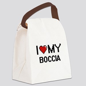 I Love My Boccia Digital Retro De Canvas Lunch Bag