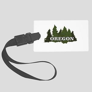 oregon trees logo Large Luggage Tag
