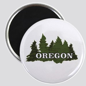 oregon trees logo Magnets