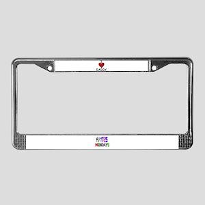 I LOVE DADDY License Plate Frame