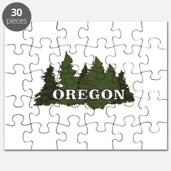 oregon trees logo Puzzle