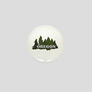 oregon trees logo Mini Button