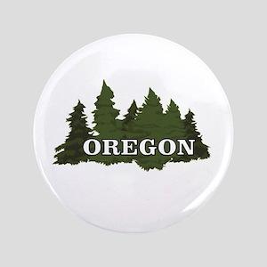 """oregon trees logo 3.5"""" Button"""