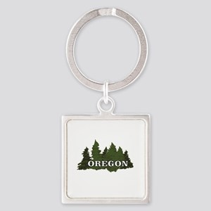 oregon trees logo Keychains