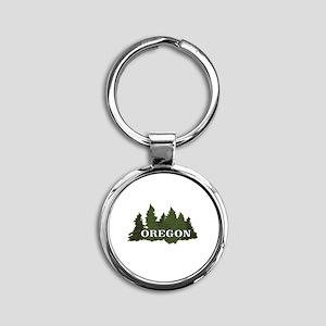 oregon trees logo Keychains