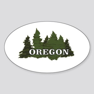 oregon trees logo Sticker