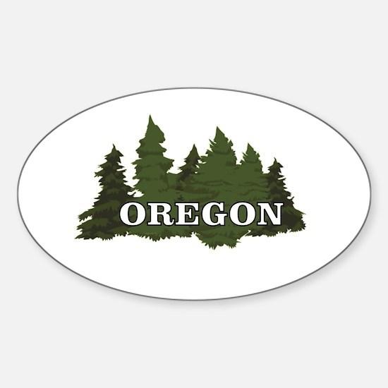 oregon trees logo Decal