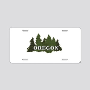 oregon trees logo Aluminum License Plate