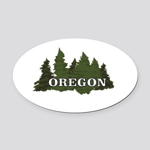 oregon trees logo Oval Car Magnet