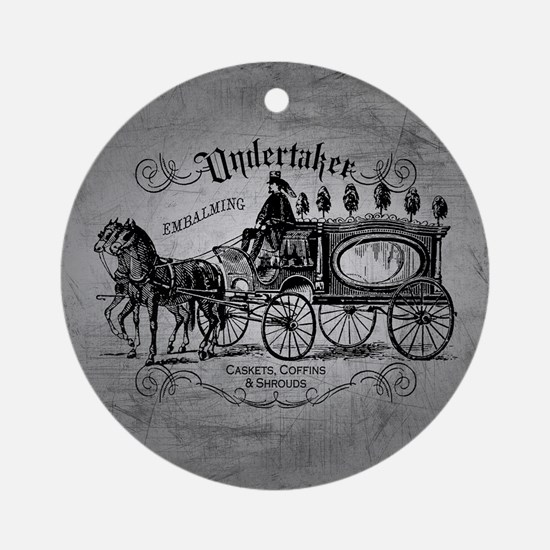 Undertaker Vintage Style Round Ornament