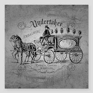 "Undertaker Vintage Style Square Car Magnet 3"" x 3"""