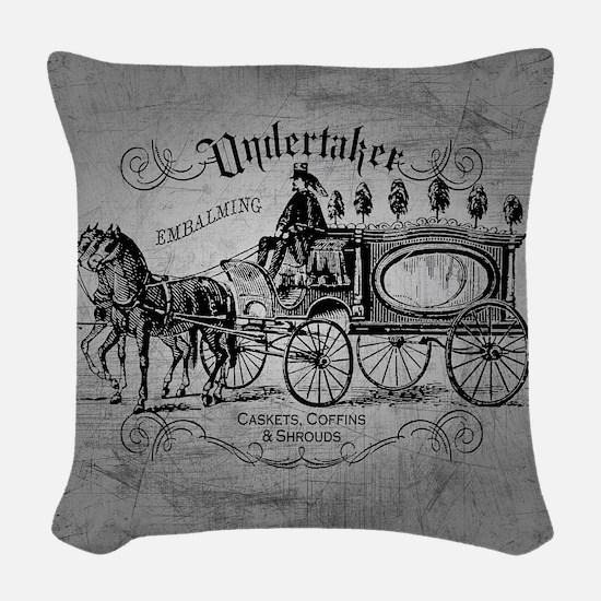 Undertaker Vintage Style Woven Throw Pillow