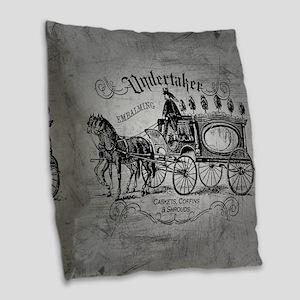 Undertaker Vintage Style Burlap Throw Pillow