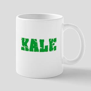 Kale Name Weathered Green Design Mugs