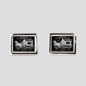 Undertaker Vintage Style Rectangular Cufflinks