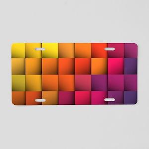 Colorblock Aluminum License Plate