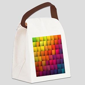 Colorblock Canvas Lunch Bag