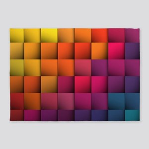 Colorblock 5'x7'Area Rug