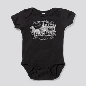 Vintage Style Undertaker Baby Bodysuit